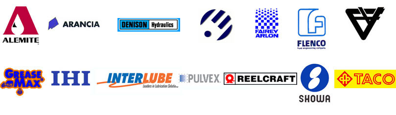 Our Brands for Centralised Lubrication Systems, Hydraulics, Pneumatics and Control